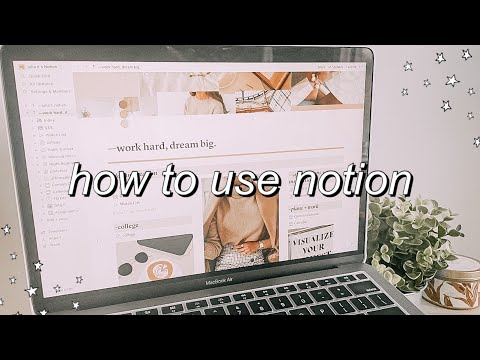 HOW TO ORGANIZE YOUR LIFE WITH NOTION! (with template!)