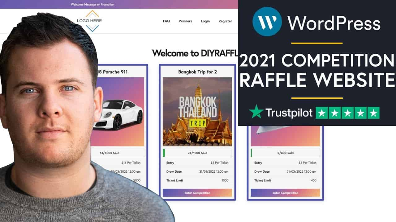 How To Create A Raffle / Competition Website With Wordpress 2021 Step By Step - (Easy For Beginners)