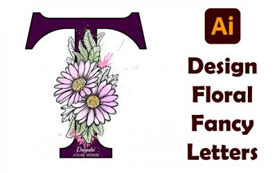 Do It Yourself – Tutorials – How To Create Custom Floral Fancy Type Letters – T – in Adobe Illustrator