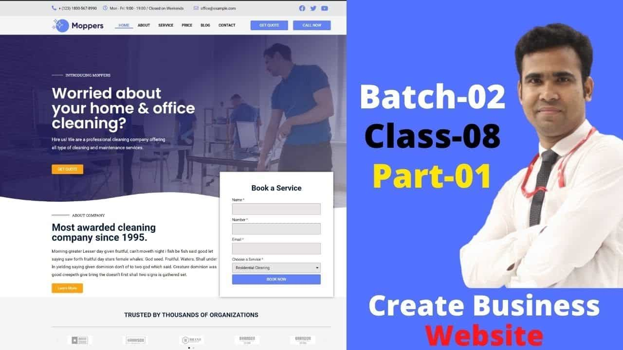How to Build A Professional Business Website In WordPress | Create Business Website |Class-9, Part-1