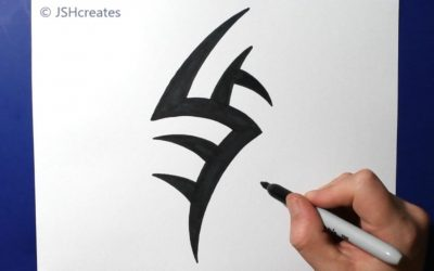 Do It Yourself – Tutorials – How to Draw a Small Spiky Tribal Tattoo Design