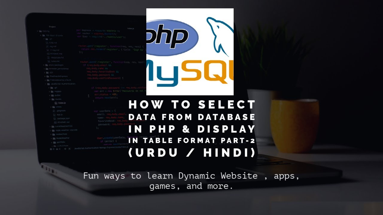 How to Select Data from Database in PHP & Display in Table Format Part-2 | PHP MySQLi Tutorial