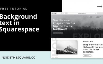Do It Yourself – Tutorials – How to add text to the background of a section in Squarespace 7.1 // Squarespace CSS Tutorial
