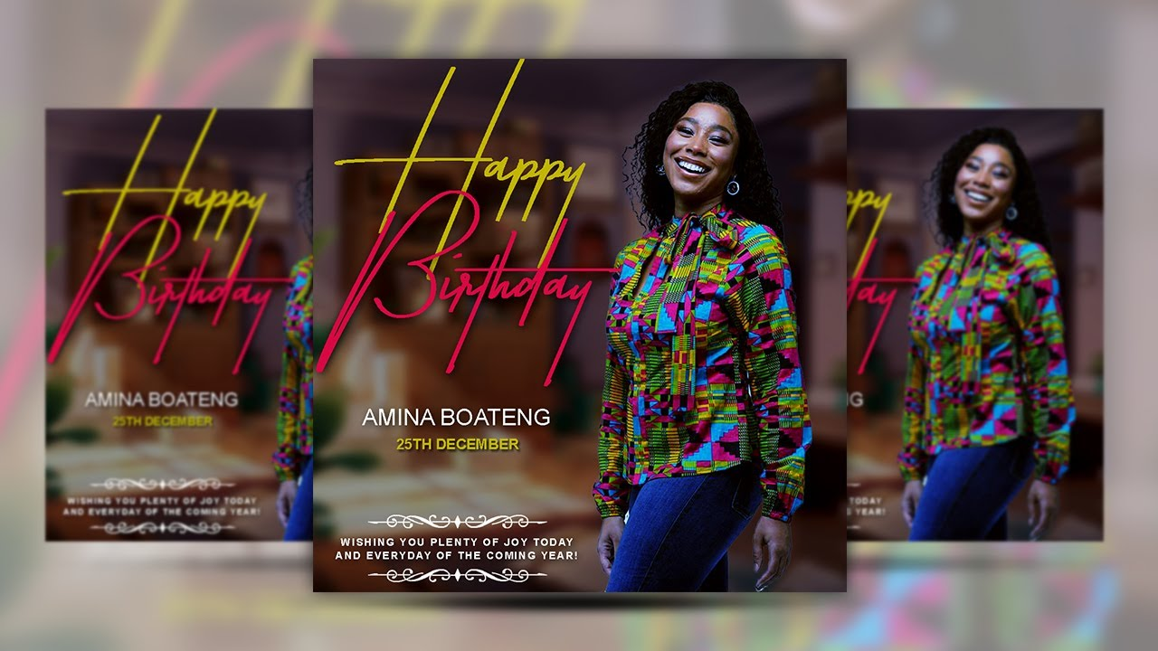 How to design your own HAPPY BIRTHDAY Flyers | Photoshop Flyer Tutorial For Beginners