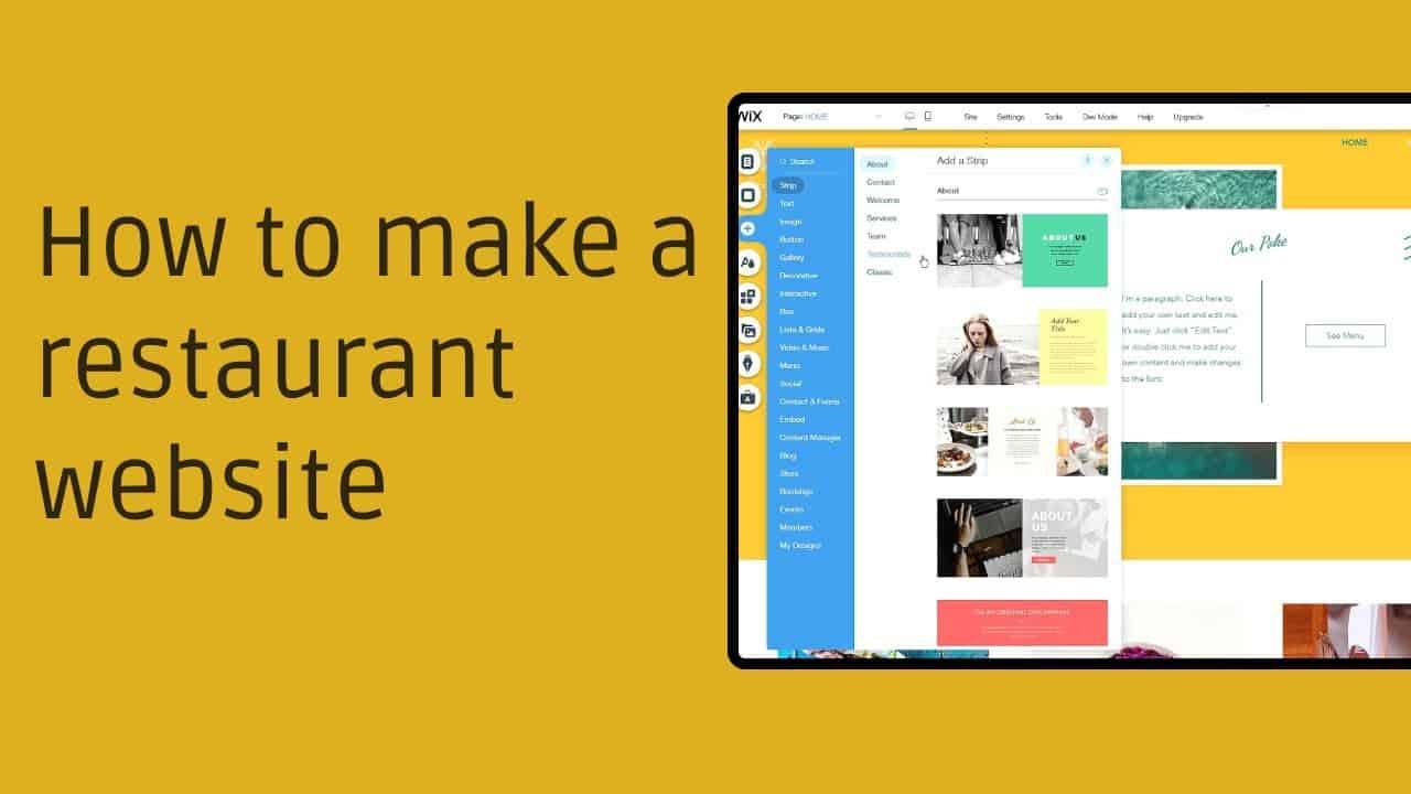 How to make a restaurant website - 2021 Tutorial