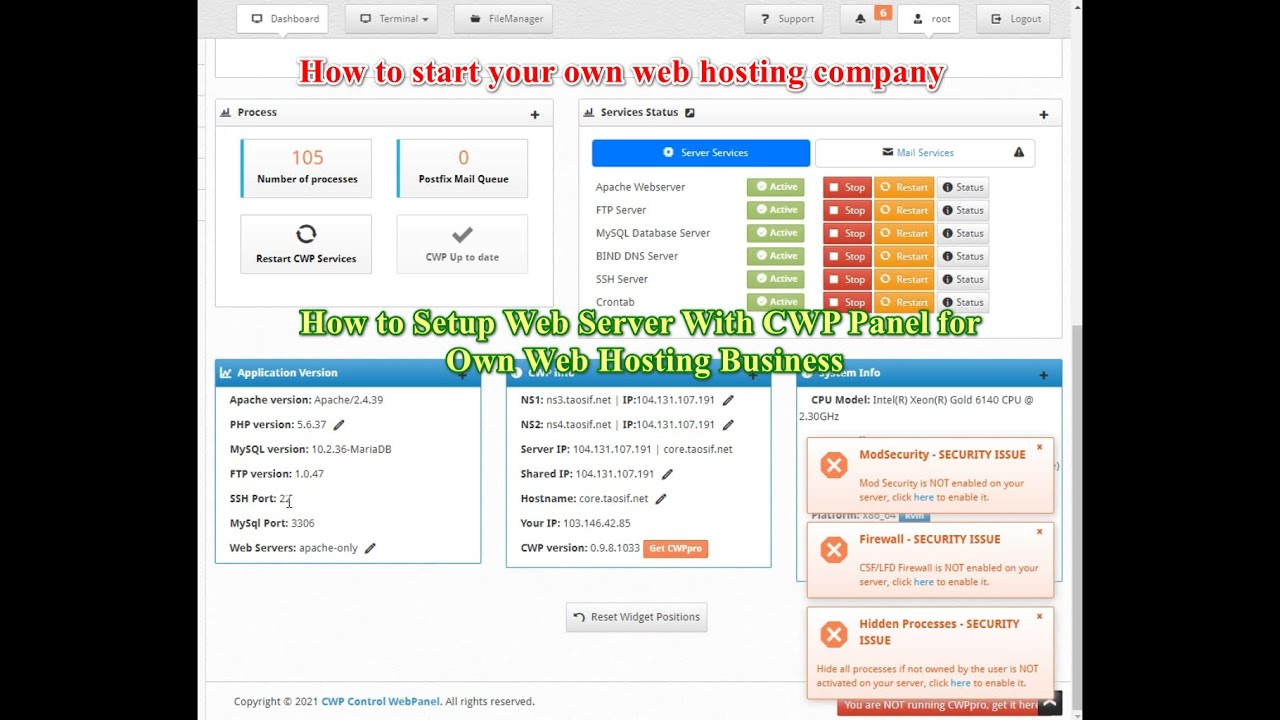 How to start your own web hosting company Tutorial in Bangla