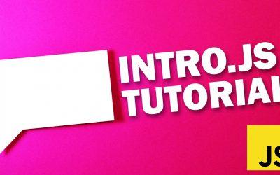 Do It Yourself – Tutorials – Intro.js Tutorial – Fastest Way to Create Web App Tutorial