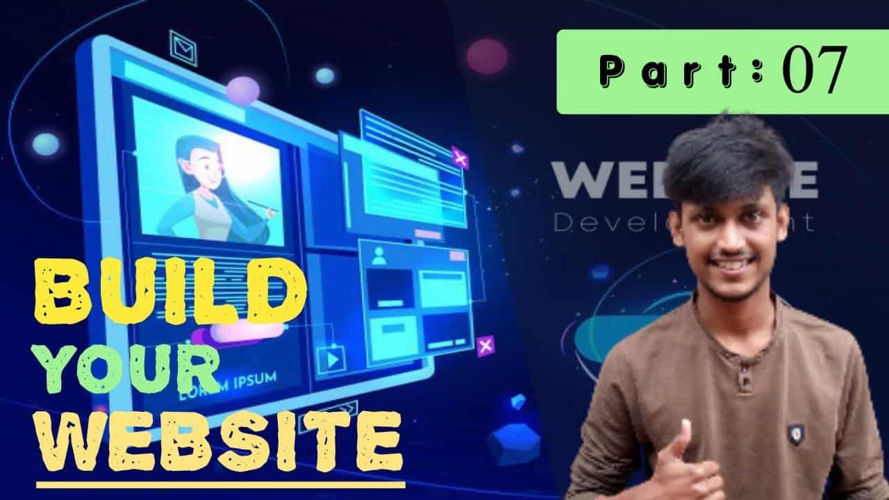 Part 7 :Build your Own Responsive business or portfolio website part by part bangla tutorial 2021