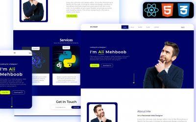 Do It Yourself – Tutorials – Reactjs Personal Portfolio Website    From Scratch To Hosting    Reactjs Website Tutorial