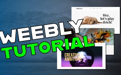 Do It Yourself – Tutorials – Weebly Tutorial 2019 – Create a free website