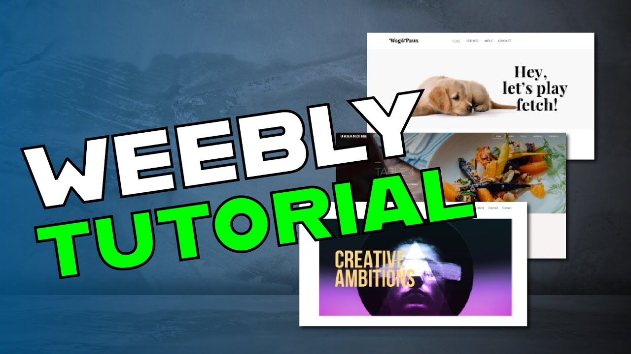 Weebly Tutorial 2019 - Create a free website