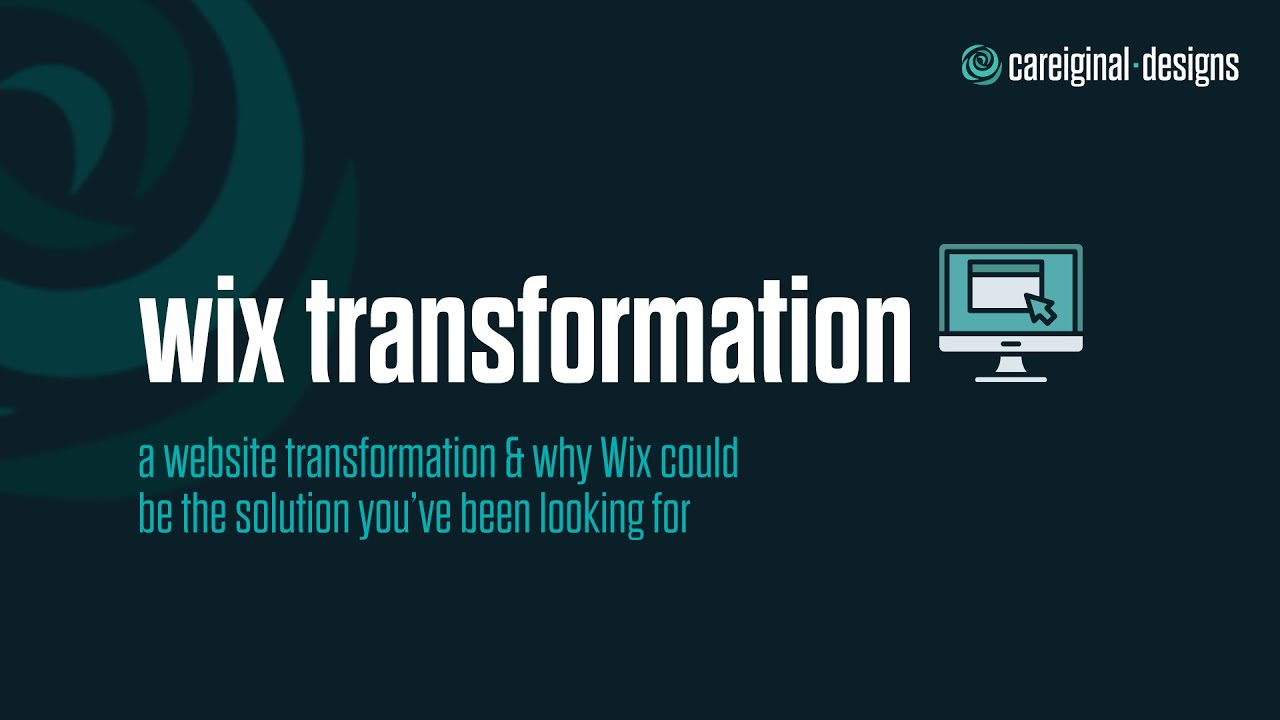Wix Website Transformation Tutorial | Careiginal