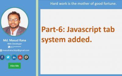 Do It Yourself – Tutorials – portfoli website part-6 javascript tab system added.