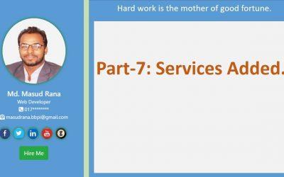 Do It Yourself – Tutorials – portfolio website part-7: services added.