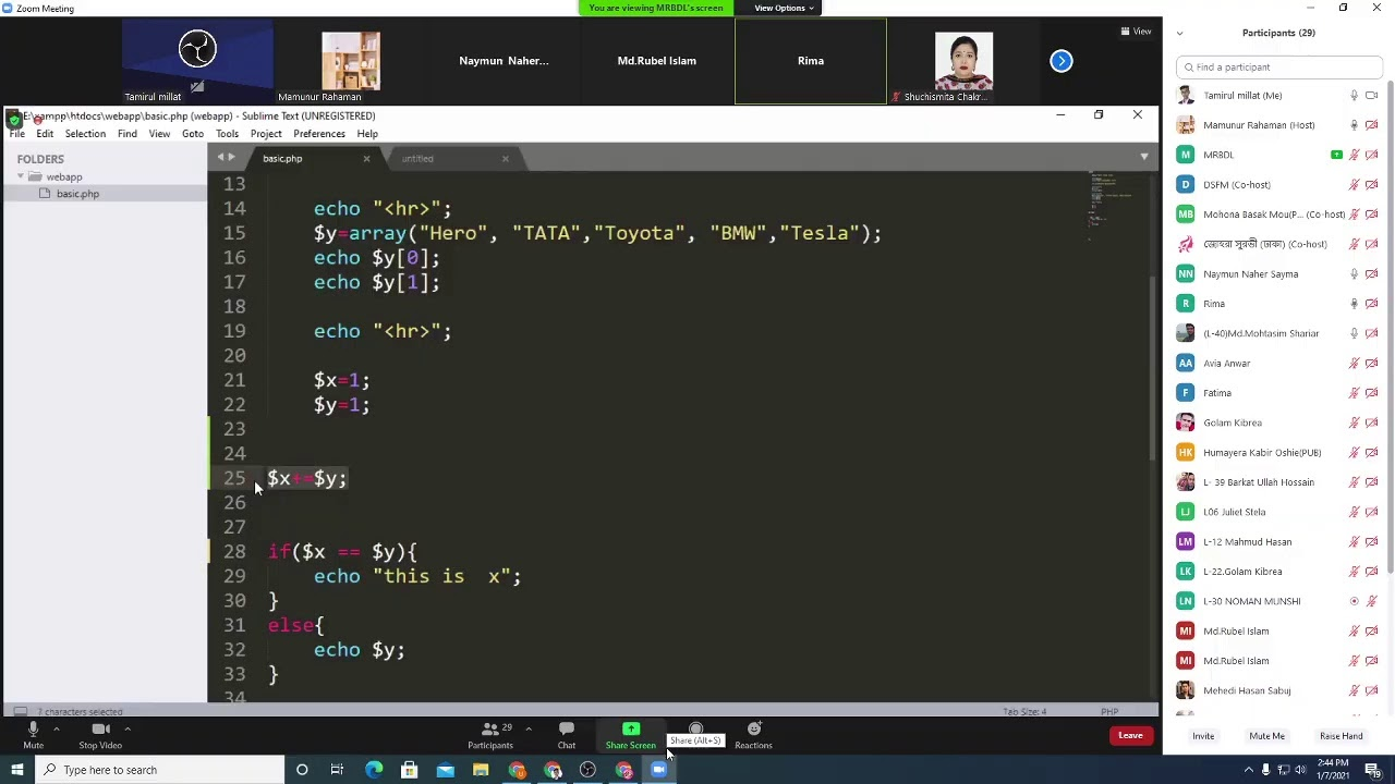 website design live class