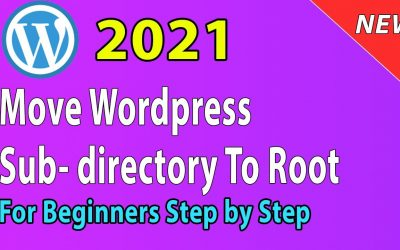 WordPress For Beginners – [2021] How to move WordPress from subdirectory to root directory/folder (remove wp from url)