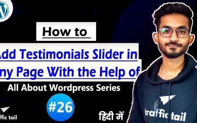 WordPress For Beginners – #26 How to Add Testimonials in Any page Through Plugin in Hindi   WordPress Tutorial 2021