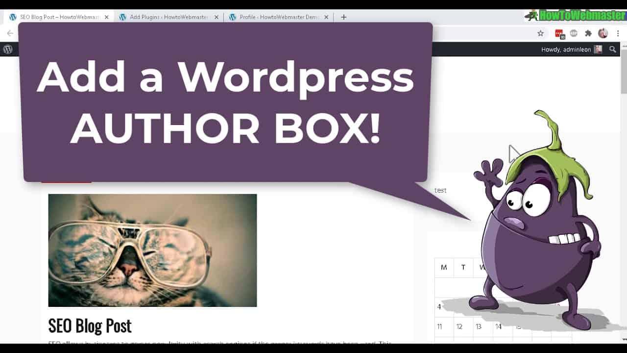 How to Add & Customize Author Bio Box in Wordpress Posts Tutorial - FREE  Plugin Simple Author Box