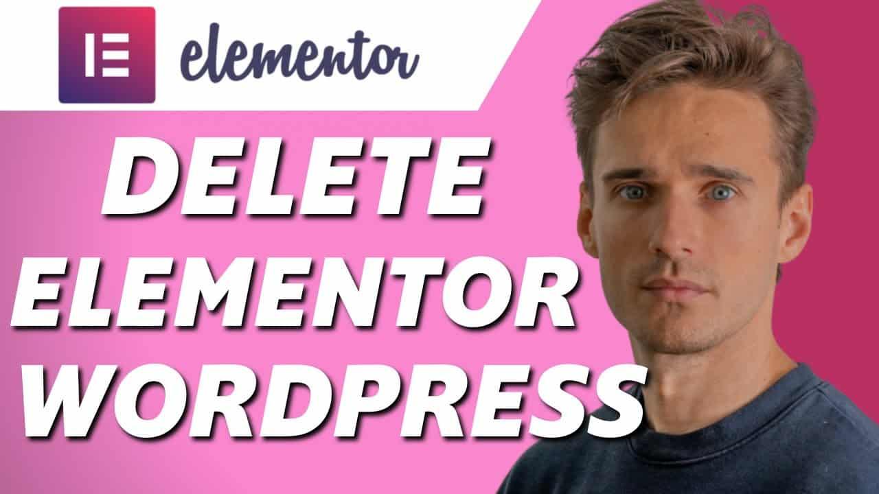 How to Delete Elementor in Wordpress Website! (Tutorial)