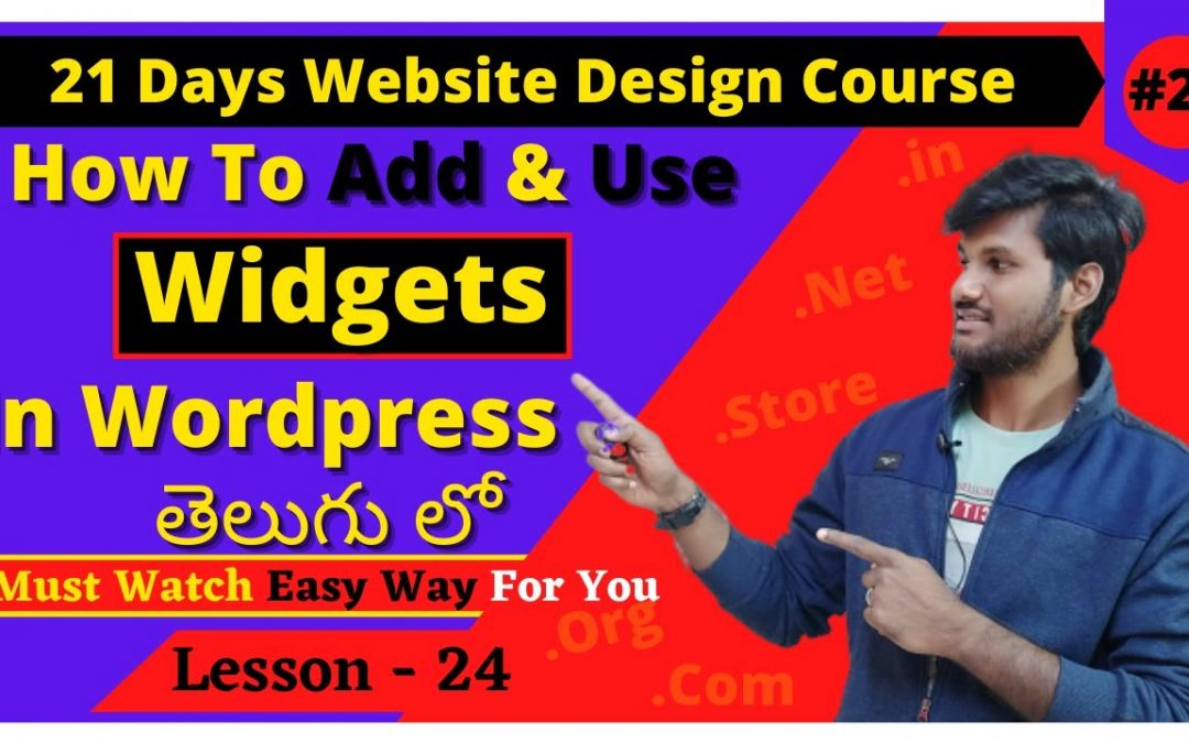 WordPress For Beginners – How to Use Widgets in WordPress [In Telugu]   WordPress Widgets Tutorial   WordPress Telugu Tutorial