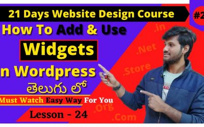 WordPress For Beginners – How to Use Widgets in WordPress [In Telugu] | WordPress Widgets Tutorial | WordPress Telugu Tutorial