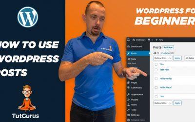 WordPress For Beginners – How to Use WordPress Posts – WordPress For Beginners 2021