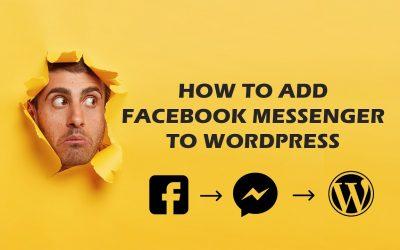 WordPress For Beginners – How to add Facebook Messenger to your WordPress Website   Beep Tech   2021