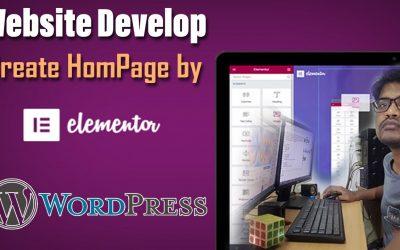 WordPress For Beginners – How to create Homepage of WordPress Website with Elementor Website Builder | Time laps | VisionDEVS