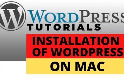 WordPress For Beginners – Installation of WordPress on Mac (Part 5)