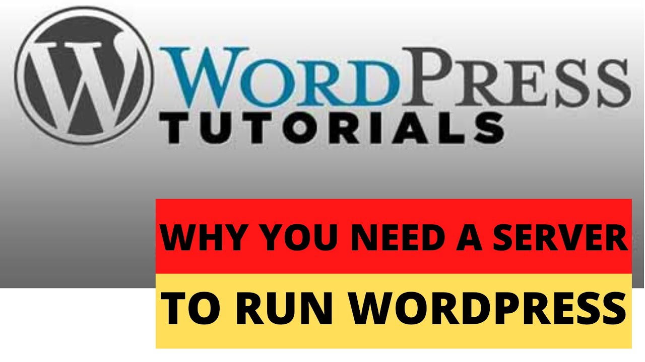 Why you need a server to run WordPress (Part 2)