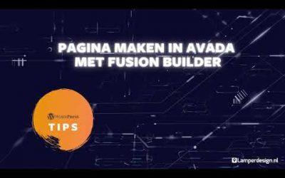 WordPress For Beginners – WordPress Tutorial #26: Pagina opmaken in Avada thema   Avada Theme Tips   Lamper Design