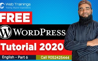 WordPress For Beginners – WordPress Tutorial English – Plugins in WordPress – Part 6