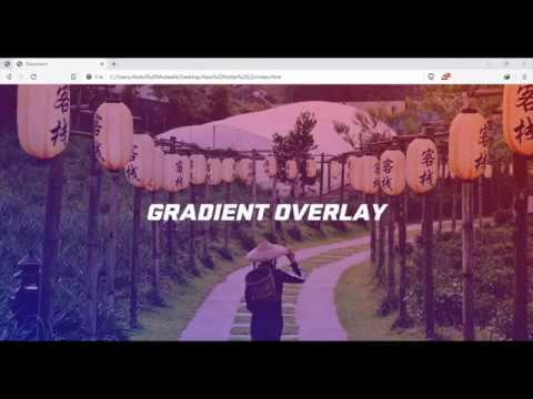 Image Gradient Overlay using HTML & CSS