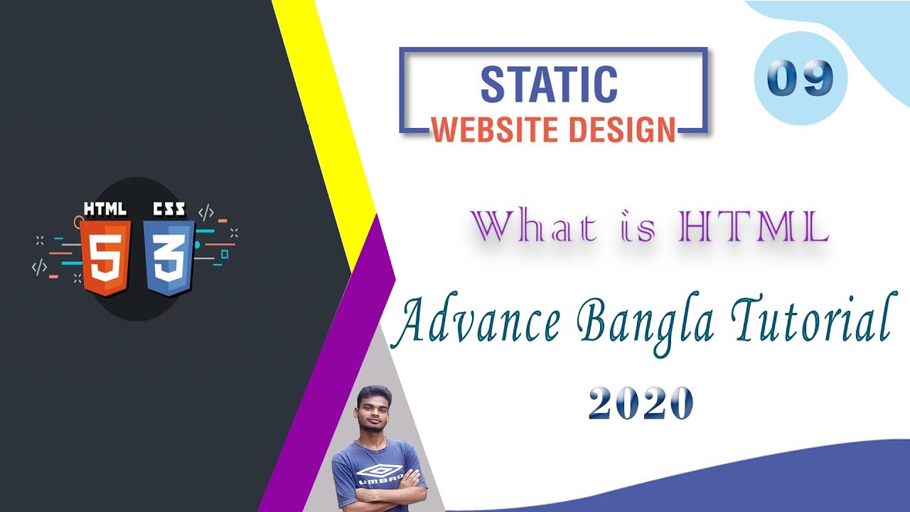 """Web Design [9] How To Web Design Html And Css """"What is HTML"""" Advance Bangla Tutorial 2020"""