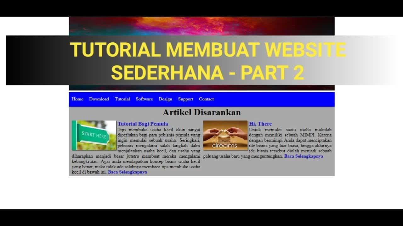 Tutorial Membuat Website Sederhana - HTML CSS (Part 2)