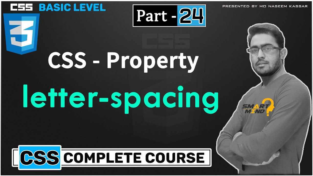 Letter spacing in css for beginners in hindi by smart mind - #24