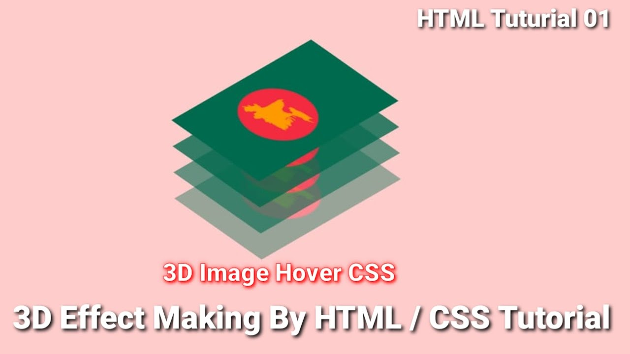3D Image Hover html /Css Tutorial   3D Image Making By html/ css 2021