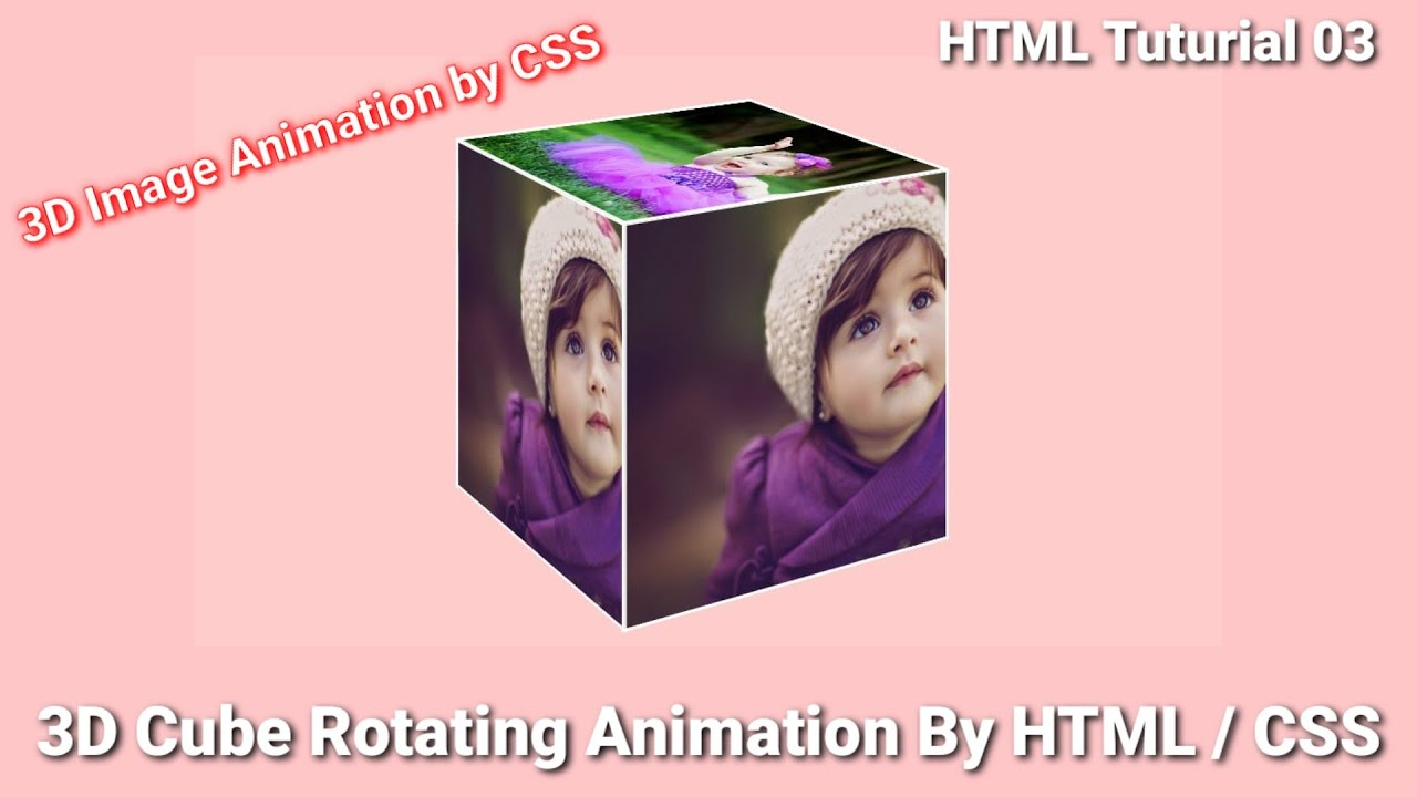 3D Cube Rotating Animation Making by html / Css | Pure Css Animation | html Tutorial 2021