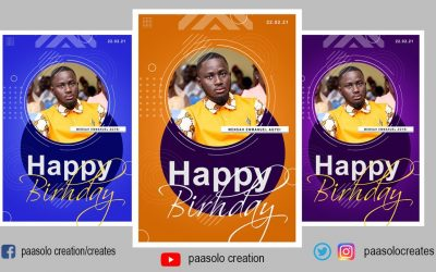 Do It Yourself – Tutorials – How to design your own HAPPY BIRTHDAY flyer in Adobe Photoshop CC Step by Step Tutorial