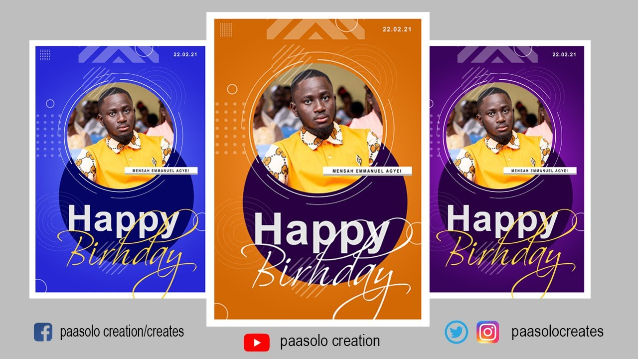 How to design your own HAPPY BIRTHDAY flyer in Adobe Photoshop CC Step by Step Tutorial
