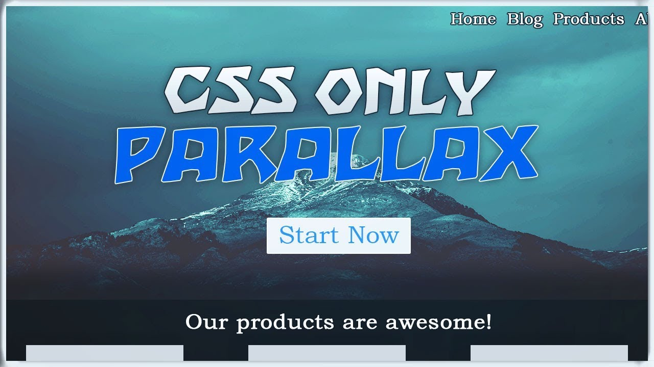 CSS only PARALLAX Effect | CSS Fixed Scroll effect NO JavaScript Tutorial