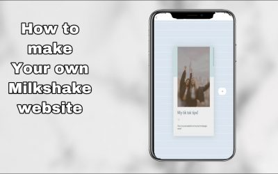 Do It Yourself – Tutorials – How to make your own milkshake website