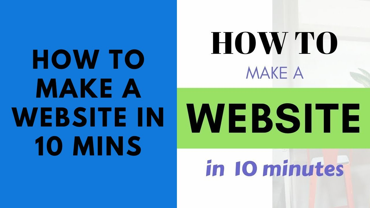 How to Make a Website In 10 Mins - Bluehost WordPress Tutorial