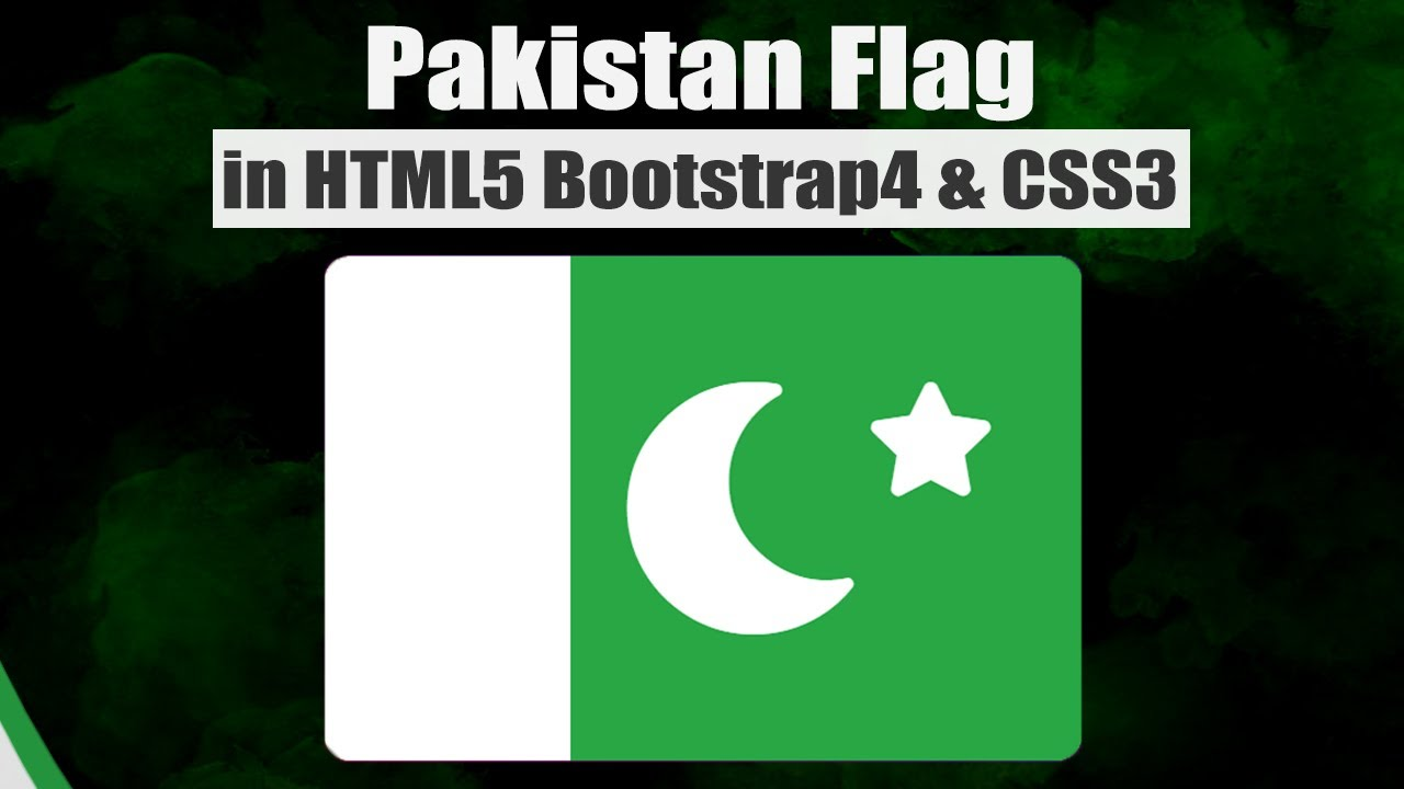 How to make Pakistan Flag in HTML,Bootstrap and CSS||The Flag OF Pakistan