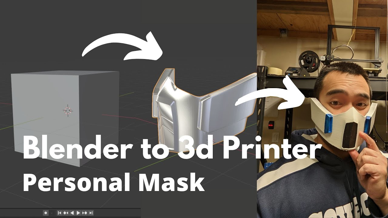 Blender Tutorial- How to Design and 3d Print Your Own Personal Mask
