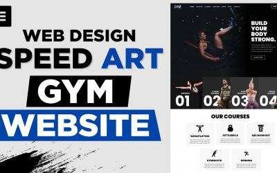 Do It Yourself – Tutorials – Designing a Beautiful Website for GYM – Web Design Speed Art – Elementor & WordPress