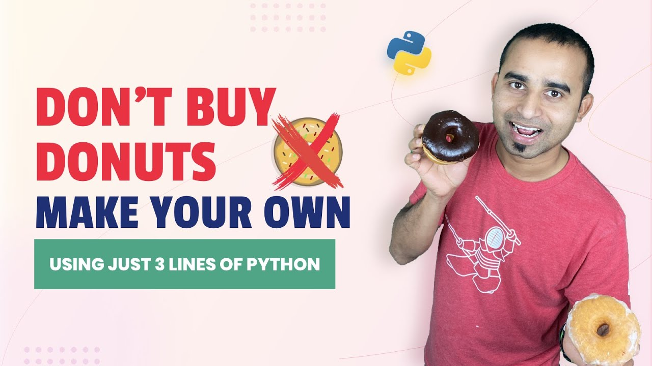 Don't Buy Donut, Make Your Own | Python Project | Rotating Donut | Python 3D Donut | Python Tutorial