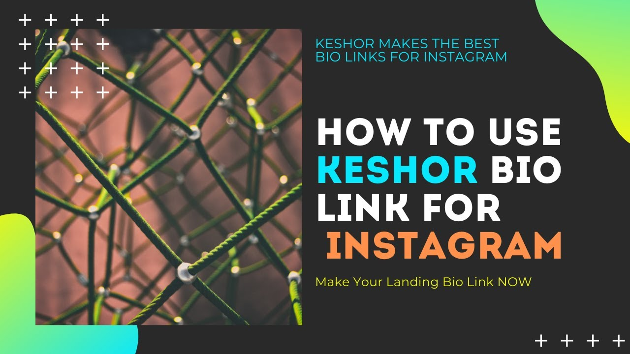 How To Use Keshor On Instagram bio Tutorial - How to make landing page with one link By Keshor