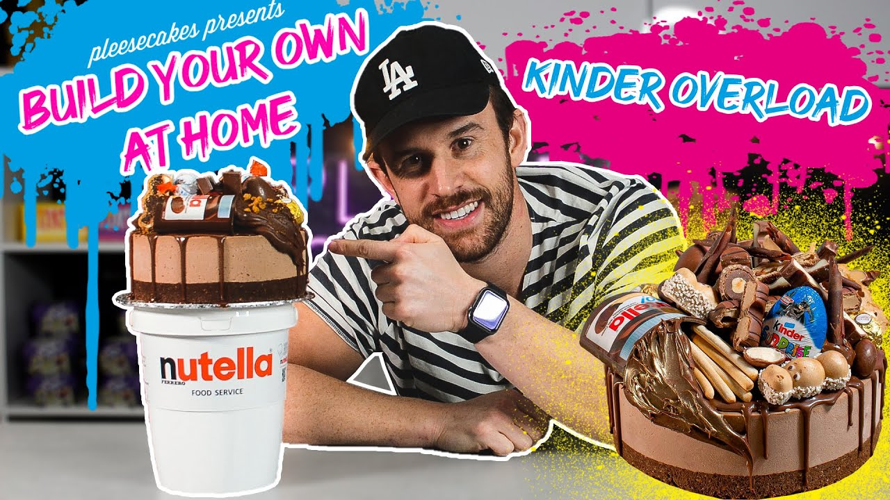 Kinder Overload Cheesecake Decorating Video | BYOAH Tutorial | Build Your Own At Home | Pleesecakes