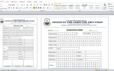 Do It Yourself – Tutorials – MS Word Tutorial : How to create admission form for school, college and coaching institute